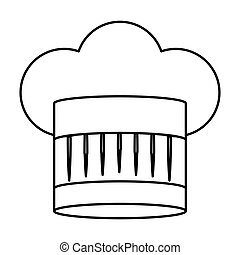 contour of chefs hat abstract vector illustration