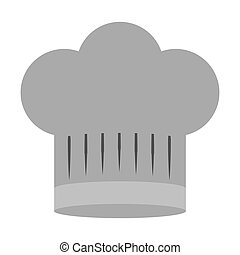 gray scale silhouette of chefs hat wide vector illustration