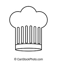 contour of chefs hat large vector illustration