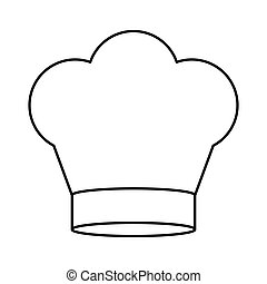contour of chefs hat in crown shape vector illustration