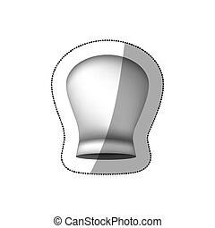 realistic silhouette sticker of rounded chefs hat vector...