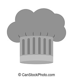gray scale silhouette of chefs hat with details vector...