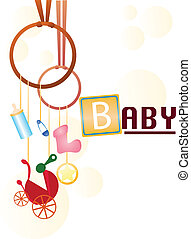 baby background - baby card design for newborns, greeting...