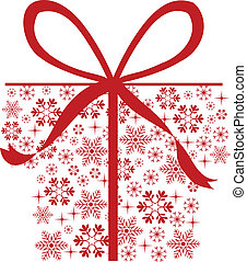 presents snowflakes - christmas background for designs,...