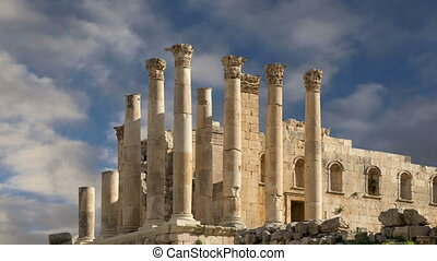 Temple of Zeus, Jordanian city of Jerash (Gerasa of...