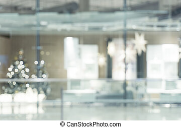 Blurred background - Store of shopping mall blur background...