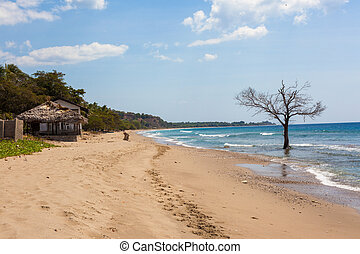 East Timor coastline - clear blue water surronds the south...