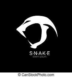 vector snake simple logo design element. danger snake icon....