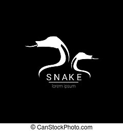 vector snake simple logo design element. danger snake icon....