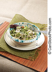 """traditional recipe """"orecchiette with rapeseeds tips"""""""