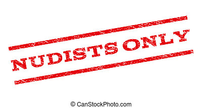 Nudists Only Watermark Stamp