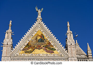 Detail of Siena Cathedral - Tuscany Italy - Detail of the...