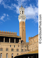 Torre del Mangia - Siena Toscana Italy - The Torre del...