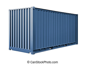 blue container for cargo transportation