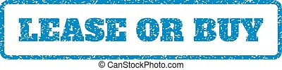 Lease Or Buy Rubber Stamp - Blue rubber seal stamp with...