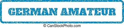 German Amateur Rubber Stamp - Blue rubber seal stamp with...