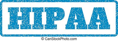 Hipaa Rubber Stamp - Blue rubber seal stamp with Hipaa text....