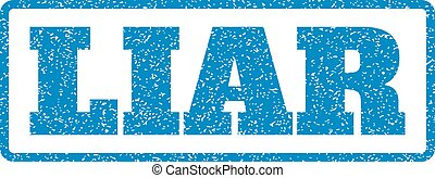 Liar Rubber Stamp - Blue rubber seal stamp with Liar text....