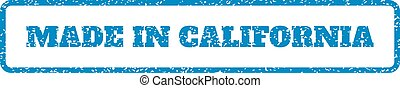 Made In California Rubber Stamp - Blue rubber seal stamp...