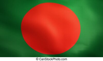 Bangladesh Flag. Background Seamless Looping Animation.