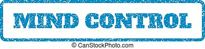 Mind Control Rubber Stamp - Blue rubber seal stamp with Mind...