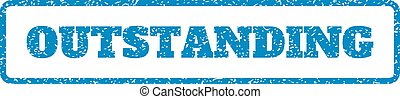 Outstanding Rubber Stamp - Blue rubber seal stamp with...