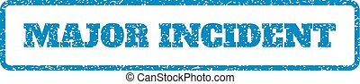 Major Incident Rubber Stamp - Blue rubber seal stamp with...