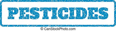 Pesticides Rubber Stamp - Blue rubber seal stamp with...