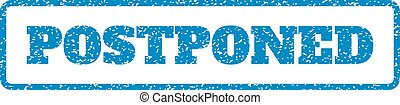 Postponed Rubber Stamp - Blue rubber seal stamp with...