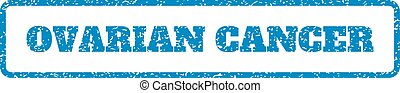 Ovarian Cancer Rubber Stamp - Blue rubber seal stamp with...