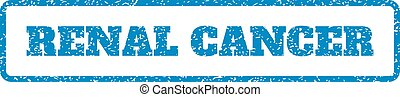 Renal Cancer Rubber Stamp - Blue rubber seal stamp with...