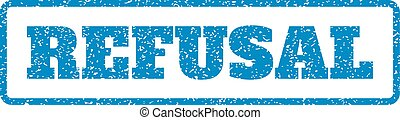 Refusal Rubber Stamp - Blue rubber seal stamp with Refusal...