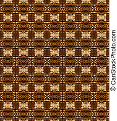 Brown texture with complex ornamente