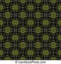 Green texture - Green background with complex ornamente