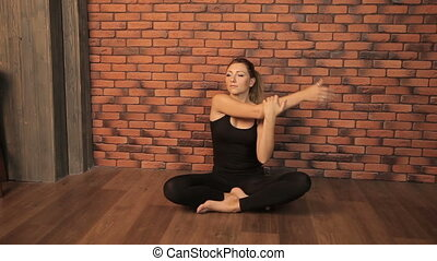 Girl is engaged in yoga. Full HD