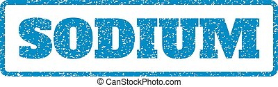 Sodium Rubber Stamp - Blue rubber seal stamp with Sodium...