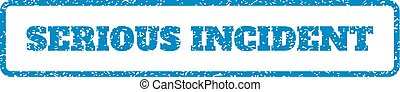 Serious Incident Rubber Stamp - Blue rubber seal stamp with...