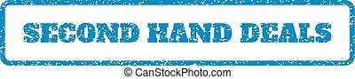 Second Hand Deals Rubber Stamp - Blue rubber seal stamp with...