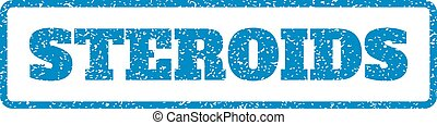 Steroids Rubber Stamp - Blue rubber seal stamp with Steroids...