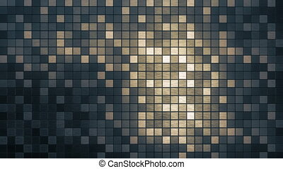 Mosaic square pattern background loop