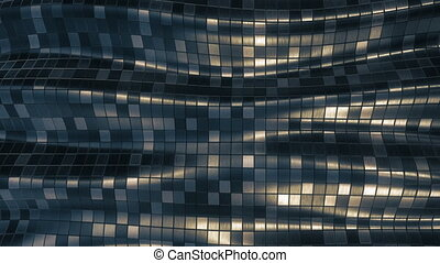 Mosaic pattern abstract soft background loop