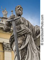sculpture of the Apostle Paul - The sculpture of the Apostle...
