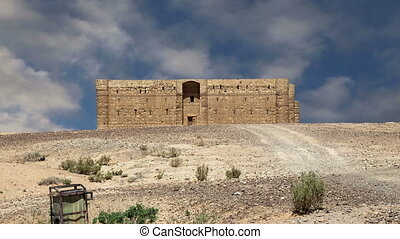 Qasr Kharana (Kharanah or Harrana), the desert castle in...