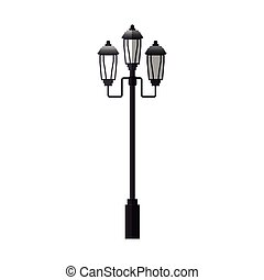 street lamp icon over white background. colorful design....