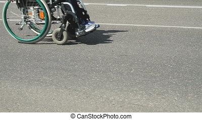 Competition. Disabled athlete with wheelchair - Disabled...