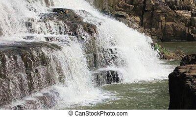 Detail of Pongour waterfall, Vietnam - The lower reaches of...
