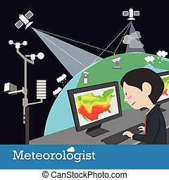 meteorologist occupation vector