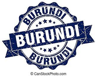 Burundi round ribbon seal