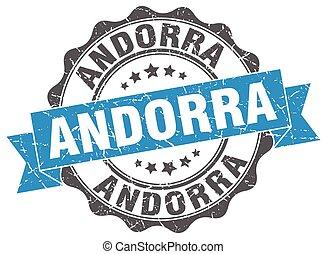 Andorra round ribbon seal