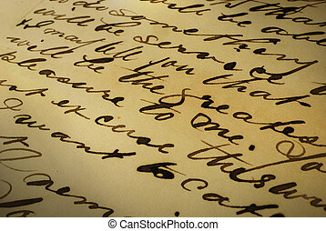 Old letter, handwriting
